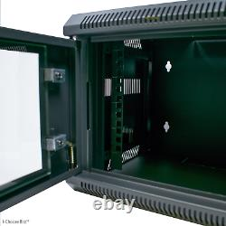 10 4U 300mm Black Wall Cabinet Network Data Rack SOHO Home Office Server Switch