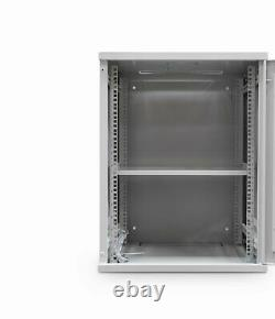 12U 19 450MM Network Cabinet Data Comms Wall Rack for Patch Panel, Switch, PDU