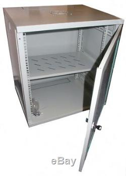 12U 19 inch Wall Mount Server Rack Cabinet with Tempered Glass Door (WxDxH) 550x