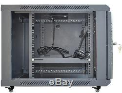 12U 35 Deep Server IT Network Enclosure Rack Cabinet FITS MOST SERVER EQUIPMENT