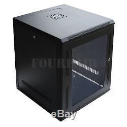 12U IT Wall Mount Network Server Data Cabinet Rack Locking Lock & Key 24 Deep