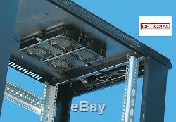12U Server Rack cabinet 600 (W) x 600 (D) x 634 (H) Flat Pack Free Standing