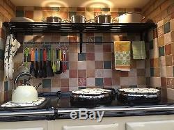 150 CM Wide Wall Mounted Saucepan Rack For Aga/rayburn Stoves