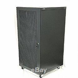 15U 18U 22U Wall Mount Network Server Cabinet Rack Enclosure Meshed Door Lock
