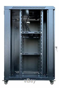 15U 18 Deep Wall Mount IT Network Server Rack Cabinet Enclosure FREE ACCESSORY