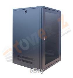15U 19 550mm deep PreBuilt Server Network Cabinet Data Comms Wall Rack PDU