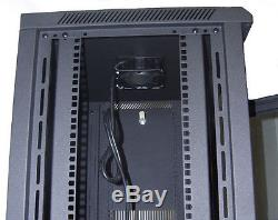 15U IT Wall Mount Network Server Data Cabinet Rack Locking Lock & Key 24 Deep