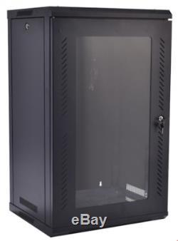 15U Network Server Data Cabinet Wall Mount Self Standing w Fan Fits 19 Rack New