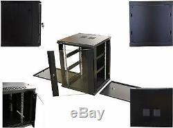 15U Professional Wall Mount Server Cabinet Enclosure 19-Inch Server Network Rack