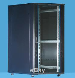 15U Server Rack cabinet 600 (W) x 800 (D) x 769 (H) Glass Front Door Flat pack