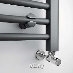 1600 X 600 Anthracite Straight Heated Towel Rail Bathroom Radiator Wall Rack