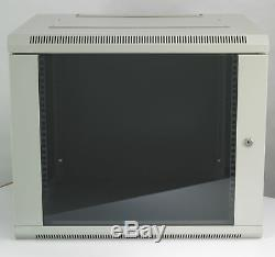 18U 600mm 19 Black Wall Cabinet Network Data Rack Patch Panel, PDU & LAN Switch