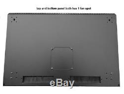 19 Inch 21U 500mm Deep Wall Mount Network Cabinet Rack, Glass Door withlock, Black