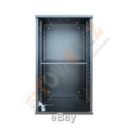 21U 19 550mm deep Prebuilt Server Network Cabinet Data Comms Wall Rack PDU
