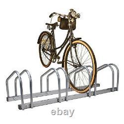 2, 3, 4 & 5 Cycle Bike Steel Pipe Parking Stand Rack, Floor Wall Mount Storage