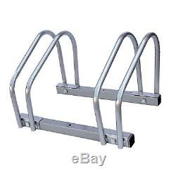 2 Bike Floor Wall Mount Mounted Cycle Rack Bracket Holder Storage Bicycle Stand