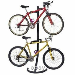 2 Bike Free Standing Rack Stand Can Also Be Mounted On The Wall By