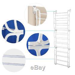 36 Pair Over Door Hanging Shoe Rack Organiser Storage Stand 12 Tier Shelf Holder