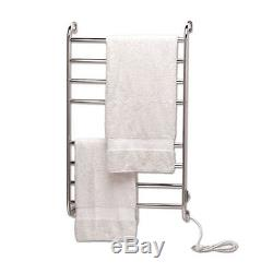 39.25 Bathroom Wall Mounted Electric Heated Towel Warmer Drying Dryer Rail Rack