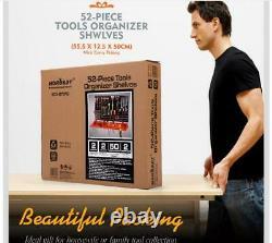 3 Level Wall Mountable 52 Pcs Tool Organiser Pegboard Shelf Garage Tool Rack DIY