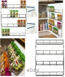 4 Tier Spice Herb Rack Wall Mountable Kitchen Cupboard Storage Back Of The Door