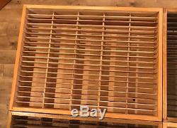 4 X 100 Napa Valley Audio Cassette Tape Rack Storage Case Wood Wall Mount Holder