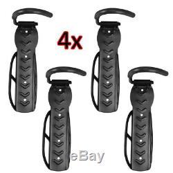 4x Steel Bicycle Storage Wall Mounted Mount Hook Rack Holder Hanger Stand Ukes