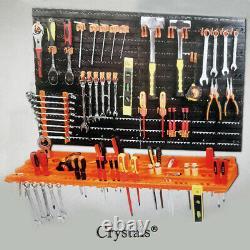 52 Pcs 3 Level Wall Mountable Tool Organiser Pegboard Shelf Garage Tool Rack DIY