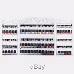 5 Tier 3 in 1 Wall Mounted Nail Polish Display Rack Shelf HolderOrganizer White