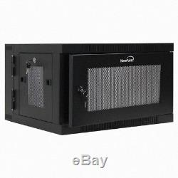 6U Wall Mount Hinged Swing Out Perforated IT Server Network Rack Cabinet Lock