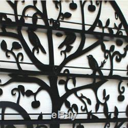 6 Tiers Black Metal Wall Mounted Nail Polish Rack Holder Display Shelf Organizer