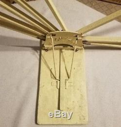 8 Arm Queen Old Farm House Wood Laundry Clothes Hanger Drying Rack Wall Mount