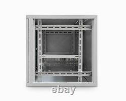 9U 19 550MM Network Cabinet Data Comms Wall Rack for Patch Panel, Switch, PDU