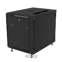 9U 24 Deep Wall Mount IT Network Server Rack Cabinet Enclosure. Get Free Bonus