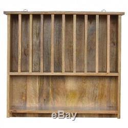 ARTISAN Range Wall Mounted Solid Wood Plate Rack Storage Coat Key Hook Hide