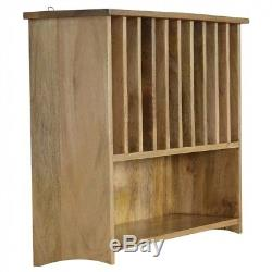 ARTISAN Wall Mounted Solid Wood Plate Rack with Shelf FREE DELIVERY