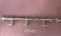 Antique Brass Wall Mount Holder Hooks Hanger Coat Rack