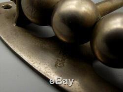 Antique Brasscrafters 3 Swing Arm Nickel Towel Bar Rack Wall Mount Vtg