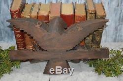 Antique German Large Bird Black Forest Carved Wood Key Hook Rack Wall Mount