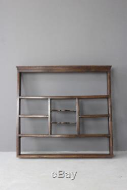 Antique Oak Wall Mount Shelves Kitchen Dresser Top Plate Rack