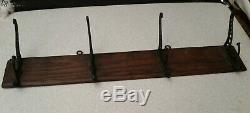 Antique Wall Mount Hat/Coat Rack 1887 Udell's Brand Indianapolis 24 x 5 14 OLD