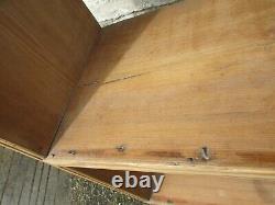Antique pine WALL PLATE RACK delft 5ft tall 5 wall shelves display book shelves