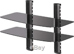 Audio / Video Equipment Rack Wall-Mounted Unit Wide Shelf with Glass