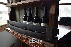 Barn wood Wine rack with Whiskey staves