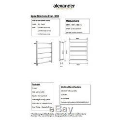 Bathroom Heated Towel Rack Rail 5 Bars Ladder Electric Clothes Heater Warmer 30R