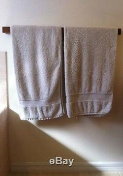 Bathroom Towel Rack Bath Rail Mounted Holder Hanger Bar Wood Handmade Organizer