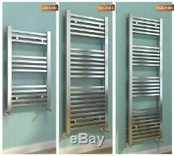 Bathroom Towel Rail Radiator Chrome Square Heated Towel Rack Rad 800/1200/1600mm