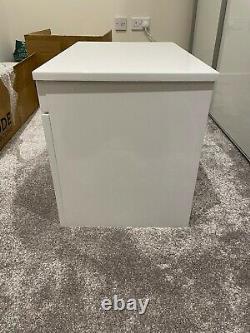 Bathroom Wall Hung Vanity Unit Gloss White Drench Emily 600mm