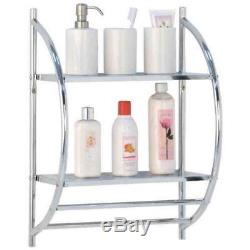 Bathroom Wall Mounted Storage Shelved Unit Towel Rack Organiser Cheap Hanger Bar