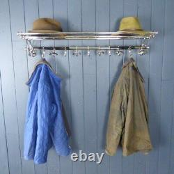 Beautiful Vintage Style Chrome Luggage Coat Hat Rack Wall Mounted Hall Stand Hoo